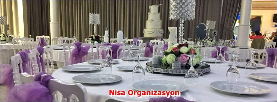 Nişan Organizasyonu Masa Süsleme