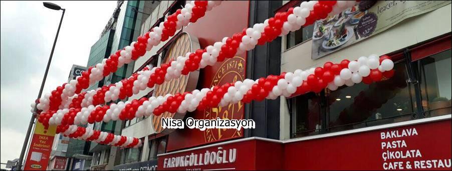 İş yeri Açılış Organizasyonu Balon Süslemeleri